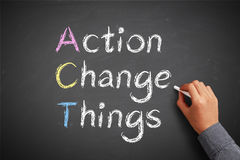 Action change things Royalty Free Stock Photos