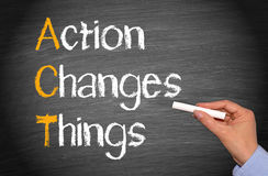 Action changes thing Stock Image