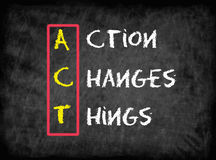 Action Changes Things (ACT), business concept Royalty Free Stock Images