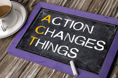 Action changes things Royalty Free Stock Photos