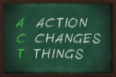Action Changes Things royalty free illustration