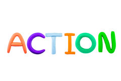 Action,clay on white background Stock Photography