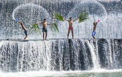 Action d'éclaboussure de l'eau Photographie stock libre de droits