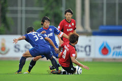 Action dans la cuvette 2011 de ligue de Toyota Images libres de droits