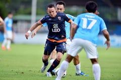 Action dans la ligue première thaïlandaise Photo libre de droits