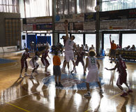 Action de basket-ball Images libres de droits