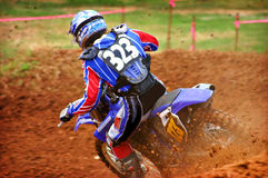 Action de Dirtbike Photographie stock libre de droits