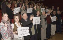 Action de groupe à l'appui des femmes en Iran Images libres de droits