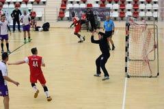 Action de handball Photos stock