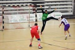 Action de handball Photographie stock