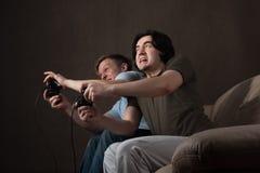 Action de jeux vidéo Images stock