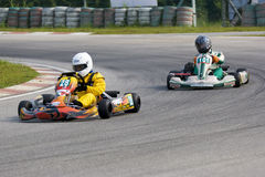 Action de Karting Images libres de droits