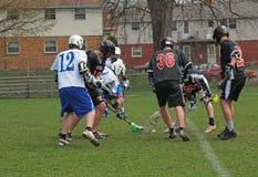 Action de Lacrosse Photos libres de droits
