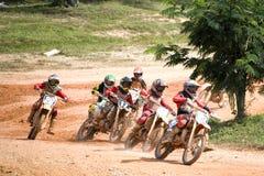 Action de motocross Photos libres de droits