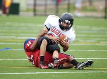 Action de partie de football de lycée image libre de droits
