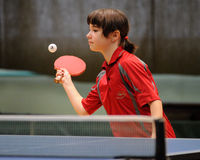 Action de ping-pong Image libre de droits