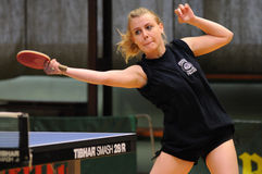 Action de ping-pong Images libres de droits