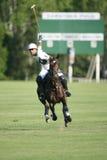 Action de polo au polo de Saratoga Images libres de droits
