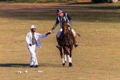 Action de Polo Referee Rider Horse Play Photos stock
