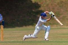 Action de rappe de batteur de cricket Image stock