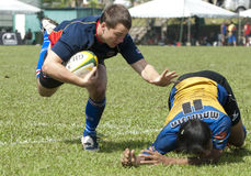 Action de rugby Photos libres de droits