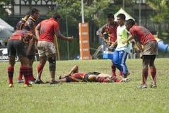 Action de rugby Photos libres de droits