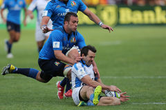 Action de rugby Photos stock
