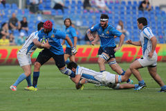 Action de rugby Images libres de droits