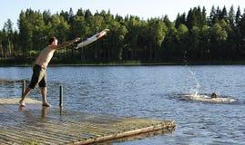 Action de sauvetage de l'eau Photographie stock libre de droits