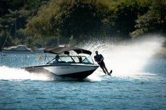 Action de slalom de ski d'eau Photo stock