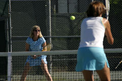 Action de tennis Images libres de droits