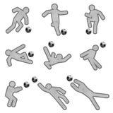 Action des footballeurs Images libres de droits