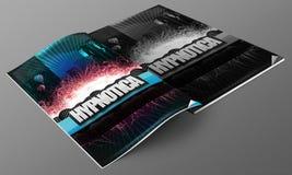 Action design magazine mockup Stock Photos