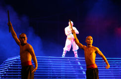 Action drama Legend of Kungfu, Beijing, China. Action drama Legend of Kungfu, the most exciting kungfu show in the world, Red Theater, Beijing, China stock photos