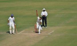 Action du bowling d'Ishwar Pandey Image libre de droits