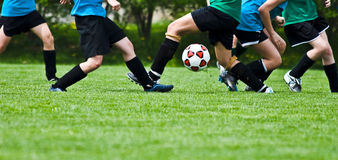 Action du football Photo stock