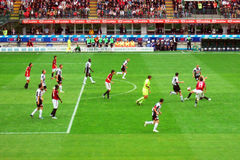 Action du football