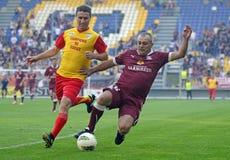 Action du football d'aînés Images libres de droits
