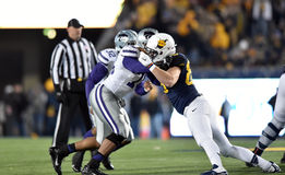 2014 action du football de NCAA - état du WVU-Kansas Photo stock