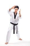 Action du Taekwondo images libres de droits