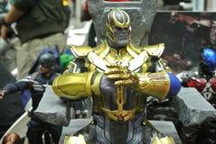 Action figure del carattere di supercriminale di Thanos dai fumetti e dai film di meraviglia immagine stock libera da diritti