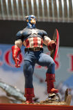 Action figure di capitano america Immagini Stock