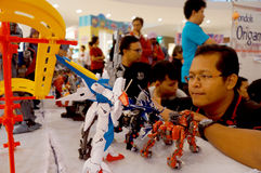 Action figure. A variety of action figures on display in a shopping mall in the city of Solo, Central Java, Indonesia Royalty Free Stock Images