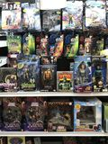Action-Figuren in Toy Store Stockfotos