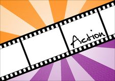 Action filmstrip. With abstract background Stock Image