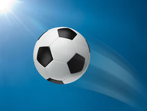 Action of football moving Royalty Free Stock Photos