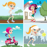 Action girl design Stock Photography