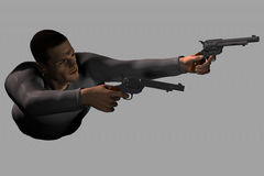 Action Hero (with clipping path) Royalty Free Stock Photography