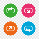 Action icons. Share symbols. Stock Photography