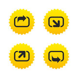 Action icons. Share symbols. Stock Images